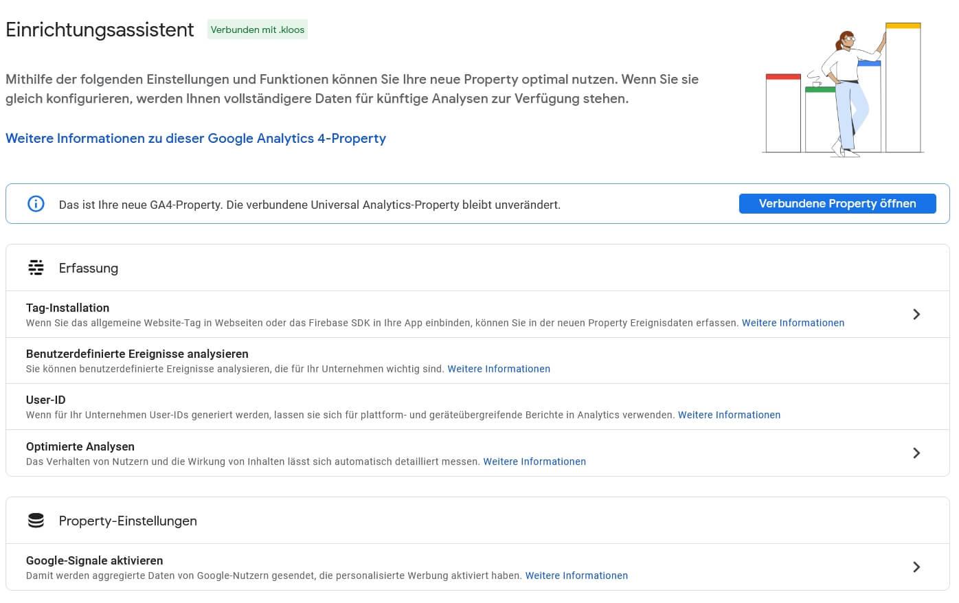 Google Analytics 4 - Assistent Einrichten